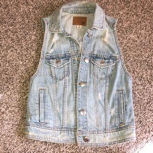 American eagle jean jacket vest